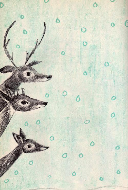 deer in the snow 9